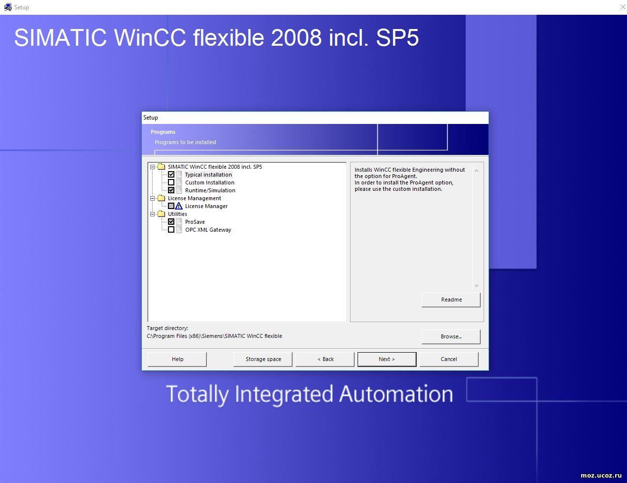 Siemens SIMATIC WinCC Flexible 2008 SP5 for Windows 10